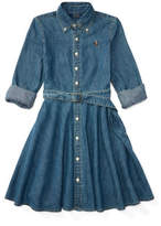 Polo Ralph Lauren Denim Fit-and-Flare Shirtdress(8-14 years)