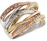 Effy 14K Tri Tone Gold 0.71ct Diamond Ring
