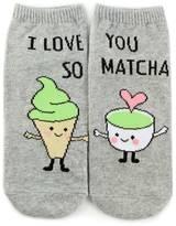 Forever 21 FOREVER 21+ I Love You Matcha Ankle Socks