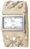Freelook Women's HA8114-3 Beige Leather Band Rectangular Watch