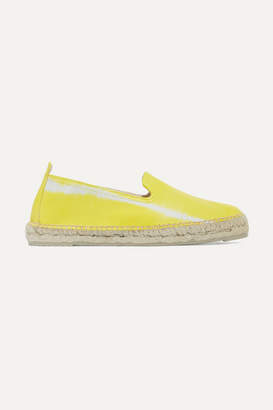 Manebi Tie-dyed Leather Espadrilles - Yellow