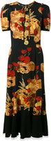 Dolce & Gabbana bread & poppy print dress - women - Nylon/Polyamide/Spandex/Elastane/glass - 42