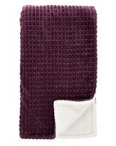 Fashion World Supersoft Plain Embossed Sherpa Throw