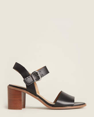 Franco Sarto Black Havana Leather Sandals