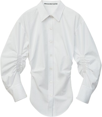 Alexander Wang Ruched Sleeve Oversized Shirt