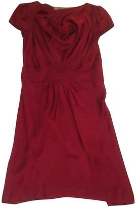 John Galliano Burgundy Silk Dress for Women