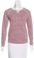 Maison Scotch Printed Long Sleeve Sweatshirt