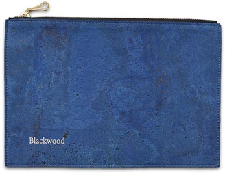 Blackwood Navy Blue Cork Leather Compact Pouch
