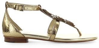 Michael Kors Felicity Pale Gold Thong Sandal