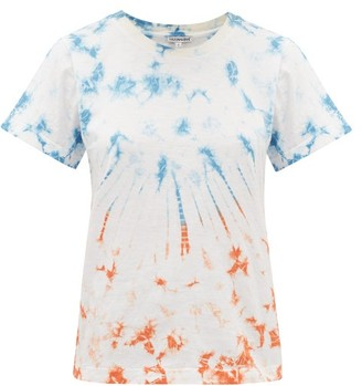 Arizona Love Ally Tie-dyed Cotton T-shirt - Womens - Blue Print