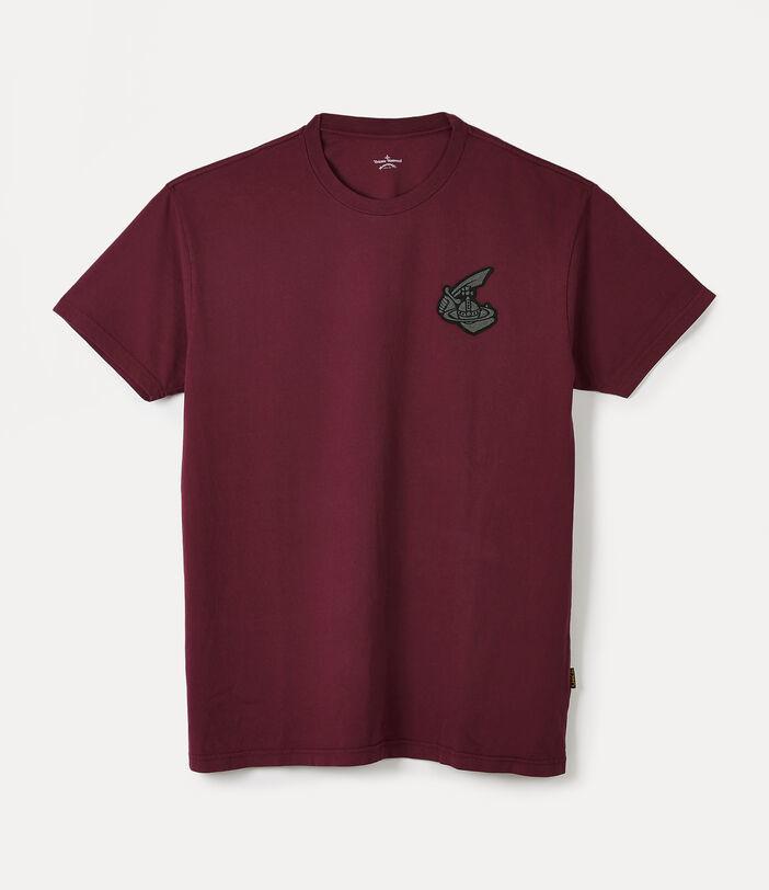 Vivienne Westwood New Boxy T-Shirt Arm & Cutlass Badge Beet Red