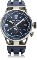 Locman Montecristo Blue Stainless Steela & Titanium Dual Time Men's Watch