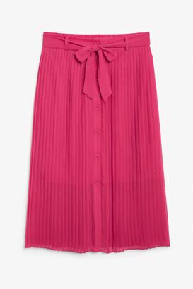 Monki Pleated midi skirt