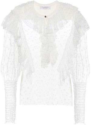 Philosophy di Lorenzo Serafini Cotton-blend lace blouse