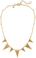 J.Crew Triangle gold-plated, crystal and calcite necklace