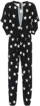 Norma Kamali Star-print stretch-jersey jumpsuit