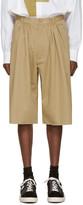 Bless Beige Pleated Bermuda Shorts