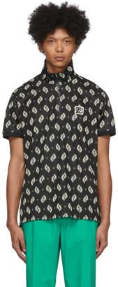 Kenzo Black Ikat Zip T-Shirt