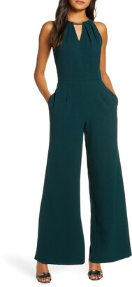 Donna Ricco Formal Wide Leg Jumpsuit