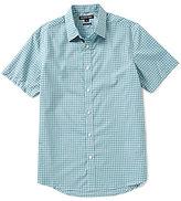 Michael Kors Thompson Short-Sleeve Check Woven Shirt