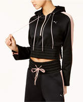 Puma En Point Savannah Cropped Half-Zip Hoodie