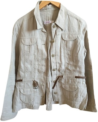 Comptoir des Cotonniers Ecru Linen Jacket for Women