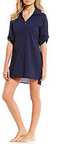 Tommy Bahama Crinkle Cotton Popover Dress Cover-Up