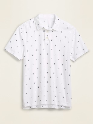 Old Navy Soft-Washed Printed Jersey Polo for Men