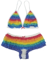Kitson Honeydew Rainbow Mesh Tutu Intimates