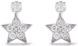 As 29 18kt white gold Essentials star diamond earrings