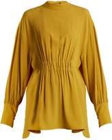 Marni High-neck crepe blouse
