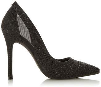 Head Over Heels Avayah Diamante Point Court Shoes