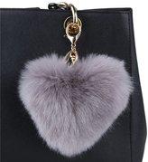 Genda 2Archer Faux Rabbit Fur Pom Pom Ball Keychain for Car Key Ring Handbag Tote Bag