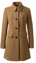 Lands' End Women's Petite Insulated Wool Car Coat-Vicuna
