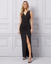 Le Château Knit Faux Wrap Gown