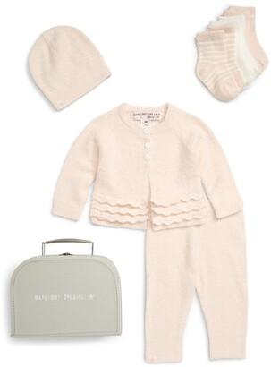 Barefoot Dreams CozyChic® Lite Heirloom Cardigan, Pants, Socks, Beanie & Suitcase Set
