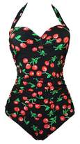 American Trends Retro Pin Up Vintage Halter One Piece Swimsuit Bikini Swimwear