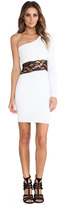 Donna Mizani One Shoulder Mini Dress