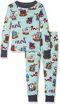 Hatley Boy's 100% Organic Cotton Long Sleeve Printed Pyjama Sets