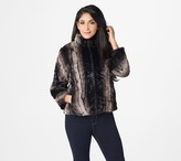 Dennis Basso Faux Fur Jacket with Quilted Lining