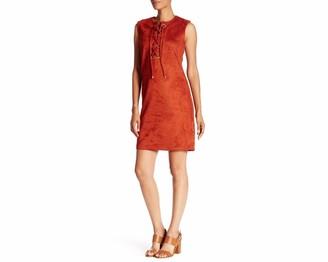 Sharagano Women's Faux Suede Shift Dress