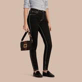 Burberry Skinny Fit Stretch Jeans with Contrast Topstitching