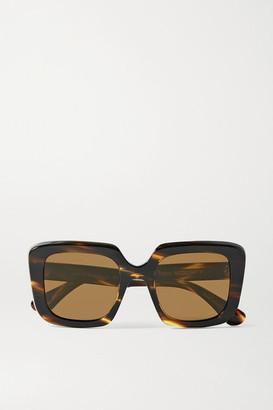 Oliver Peoples Franca Oversized Square-frame Tortoiseshell Acetate Sunglasses