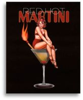 Bed Bath & Beyond Martini Girls in Red Hot Wall Art