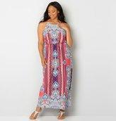 Avenue Paisley Blouson Maxi Dress