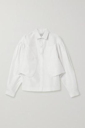 Situationist Silk-organza Shirt - White