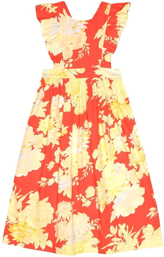 Bonpoint Canelle floral cotton dress