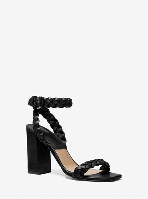 Michael Kors Collection Pippa Woven Leather Sandal