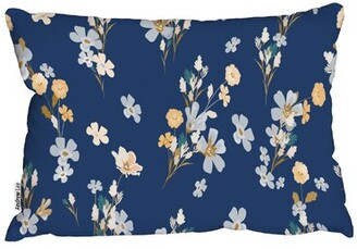 Lee Andrew Cotton Floral Lumbar Pillow Andrew