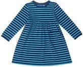 Jo-Jo JoJo Maman Bebe Classic Dress (Baby) - Navy/Jade Stripe-0-3 Months